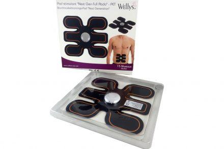 Wellys Ζώνη Ηλεκτροδιέγερσης για εκγύμναση κοιλιακών με 15 επίπεδα επιλογής