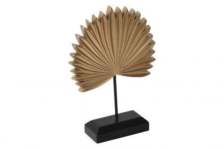 Ξύλινο Διακοσμητικό Επιτραπέζιο Palm Tree σε χρυσό χρώμα με βάση