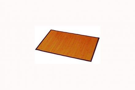 Πατάκι μπάνιου από ξύλο Bamboo σε φυσικούς τόνους διαστάσεων 50x80 εκατοστά - Aria Trade