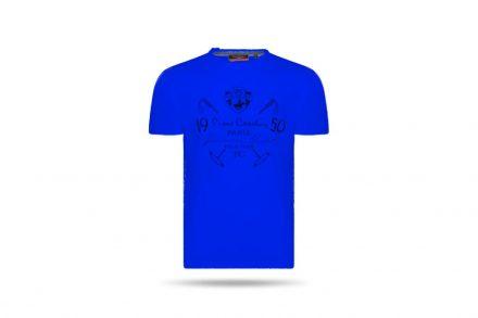 Pierre Cardin Ανδρικό μπλουζάκι T-shirt με τυπωμένη στάμπα και κοντό μανίκι σε χρώμα μπλε σκούρο