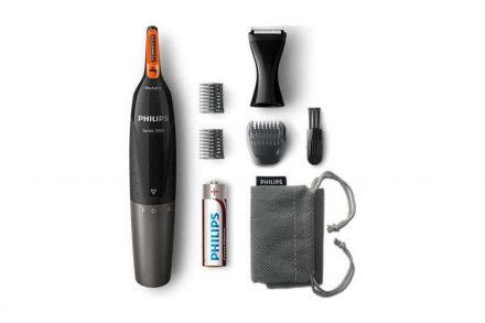Philips Trimmer Ασύρματη Ξυριστική Μηχανή Μύτης και Αυτιών σε Μαύρο χρώμα