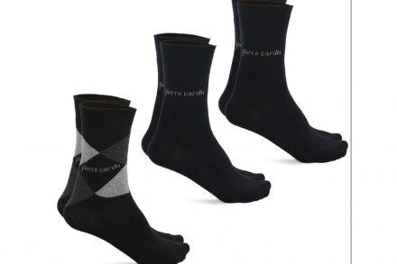 Pierre Cardin Σετ Ανδρικές κάλτσες 3 τεμαχίων σε μαύρη απόχρωση