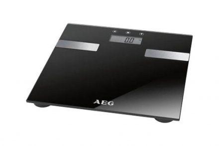 AEG Ηλεκτρονική Ζυγαριά για Μέτρηση Σωματικού Βάρους Λίπους και Υγρών Σώματος με LCD Οθόνη σε Μαύρο χρώμα