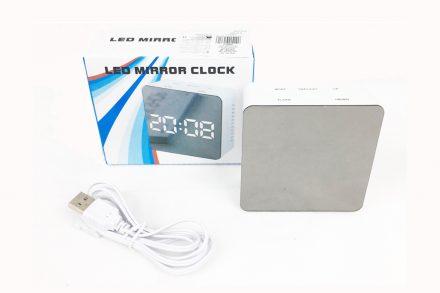 Ψηφιακό Επιτραπέζιο Ρολόι Ξυπνητήρι Καθρέφτης