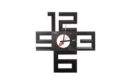 Αναλογικό Ρολόι Τοίχου με διάμετρο 50cm σε μαύρο χρώμα