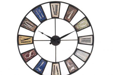 Αναλογικό Μεταλλικό Ρολόι Τοίχου 60cm σε στυλ αντίκας - Aria Trade