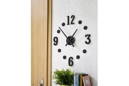 Αναλογικό Ρολόι Τοίχου με διάμετρο 40cm σε μαύρο χρώμα - Aria Trade