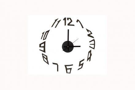 Αναλογικό Ρολόι Τοίχου με διάμετρο 60cm σε μαύρο χρώμα