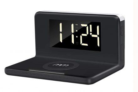 Ξυπνητήρι ασύρματος  Wireless Φορτιστής για Smartphones με Led φωτισμό - Aria Trade