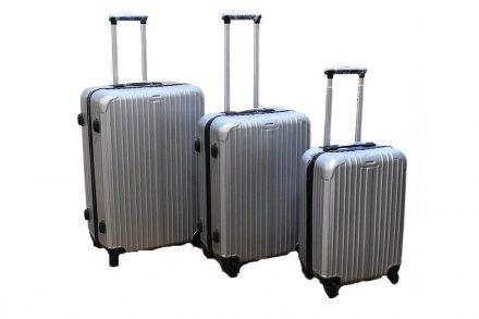 Σετ 3 Βαλίτσες Ταξιδιού ABS με Τηλεσκοπικό Χερούλι