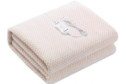 Singer Μονή Ηλεκτρική Κουβέρτα Θερμαινόμενο Υπόστρωμα 60W fleece σε λευκό χρώμα