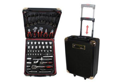 Εργαλειοθήκη Βαλίτσα με εργαλεία Smart Kraft με 295 Εργαλεία Κορυφαίας Ποιότητας Ροδάκια & Τηλεσκοπικό Χερούλι SK-0009 - Smart Kraft