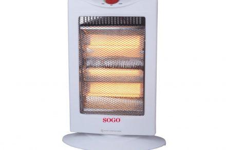 Σόμπα Αλογόνου 1200W με 3 επίπεδα θερμότητας σε Λευκό χρώμα