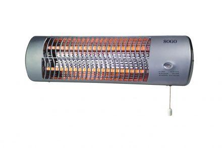 SOGO Θερμαντικό Σώμα με Λάμπες Αλογόνου 2 επιπέδων θέρμανσης 1200W (600+600W)
