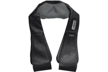 Συσκευή Μαξιλάρι Μασάζ Σιάτσου (Shiatsu) για Αντιμετώπιση Πόνου σε μαύρο χρώμα - Aria Trade