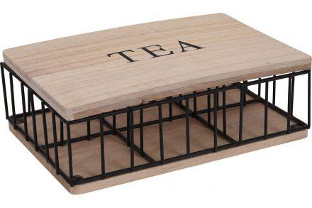 Ξύλινο Κουτί Αποθήκευσης για φακελάκια τσαγιού