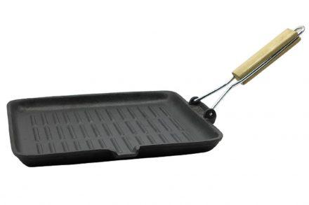 Muhler Αντικολλητικό τετράγωνο τηγάνι Γκριλιέρα Grill 28 εκατοστά από Χυτοσίδηρο