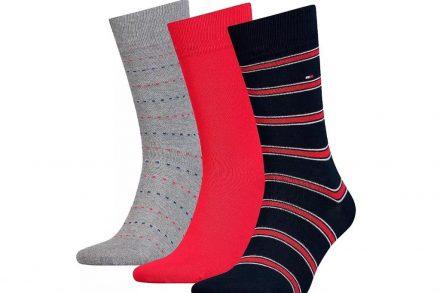 Tommy Hilfiger Σετ Ανδρικές Κάλτσες 3 τεμαχίων σε 3 διαφορετικά σχέδια σε συσκευασία δώρου