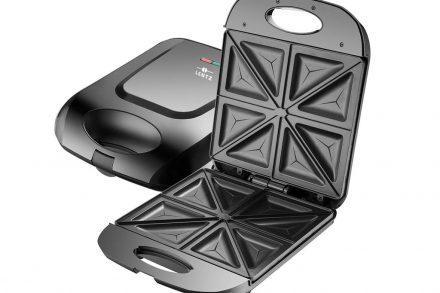 Τοστιέρα 4 θέσεων 1400 Watt με Αντικολλητικές πλάκες για Τριγωνικά Τοστ σε μαύρο χρώμα