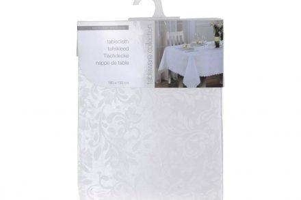 Τραπεζομάντηλο με φλοράλ σχέδιο σε λευκό χρώμα