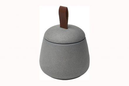 Θήκη μπάνιου για βαμβάκι και για άλλα μικροαντικείμενα διαμέτρου 10 εκατοστών σε Γκρι χρώμα - Aria Trade