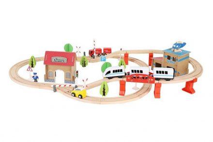 Ξύλινος Συναρμολογούμενος Σιδηρόδρομος 89 τεμαχίων