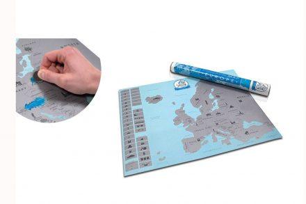 Ευρωπαϊκός χάρτης Ξυστό διαστάσεων 57.4x43.1 εκατοστά