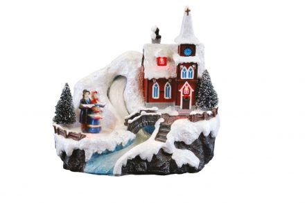 Χριστουγεννιάτικο Διακοσμητικό με LED φωτισμό και κίνηση