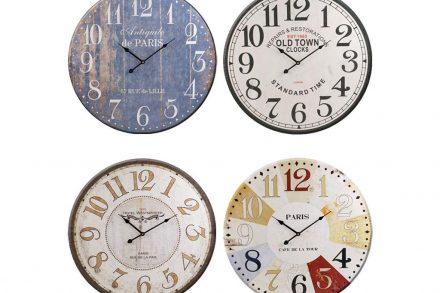 Ρετρό Ξύλινο Ρολόι Τοίχου