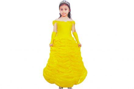 Παιδική αποκριάτικη στολή για κορίτσι Χρυσή Πριγκίπισσα