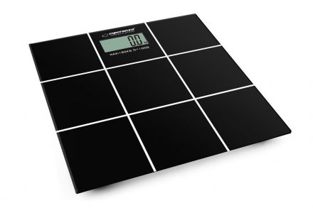 Esperanza Ψηφιακή Ζυγαριά Μπάνιου Ακριβείας με μέγιστο βάρος 180kg σε μαύρο χρώμα