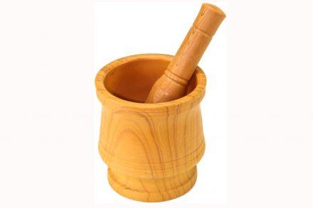 Σετ Ξύλινο γουδί με γουδοχέρι για μπαχαρικά