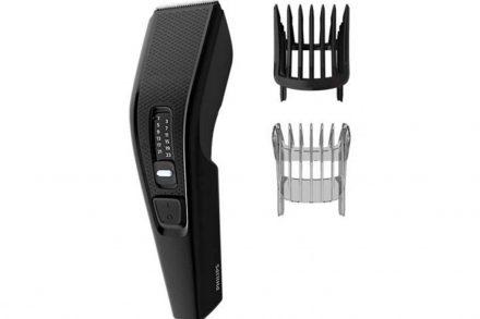 Philips Κουρευτική Μηχανή Μαλλιών με λεπίδες από Ανοξείδωτο Ατσάλι σε μαύρο χρώμα