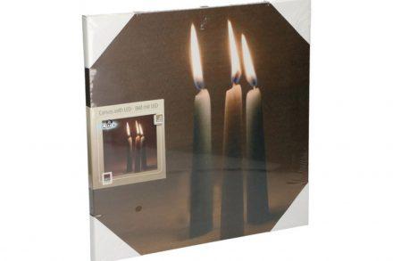 Arti Casa Πίνακας LED Καμβάς 30x30cm με Απεικόνιση Κεριών - Arti Casa