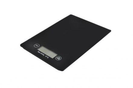 Ψηφιακή Γυάλινη Ζυγαριά Κουζίνας Ακριβείας με μέγιστο βάρος έως και 5kg σε μαύρο χρώμα - Aria Trade