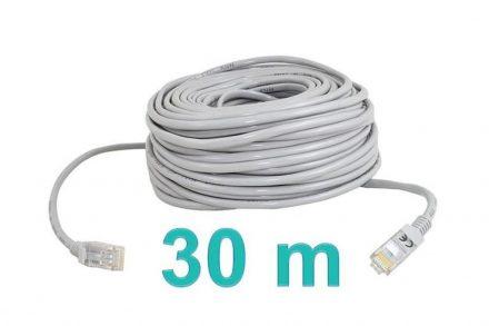 Καλώδιο Δικτύου Ethernet CAT5E LAN 30 μέτρων σε γκρι χρώμα - Aria Trade