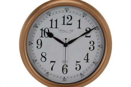 Αναλογικό Διακοσμητικό Ρολόι Τοίχου σε χρυσό χρώμα με διάμετρο 29 cm - Aria Trade