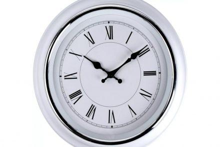 Αναλογικό Διακοσμητικό Ρολόι Τοίχου σε λευκό χρώμα με διάμετρο 40 cm - Aria Trade
