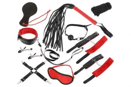 Σετ Ερωτικά Αξεσουάρ 12 Τεμαχίων σε Μαύρο-Κόκκινο χρώμα - Aria Trade
