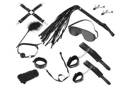 Σετ Ερωτικά Αξεσουάρ 12 τεμαχίων σε μαύρο χρώμα - Aria Trade