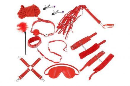 Σετ Ερωτικά Αξεσουάρ 12 τεμαχίων σε κόκκινο χρώμα - Aria Trade