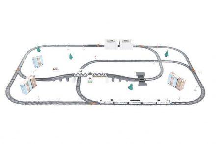 Σετ Συναρμολογούμενος Σιδηρόδρομος 86 τεμαχίων μήκους 9 μέτρων με δέντρα