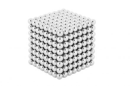 Μαγνητικές Μπάλες Μικρά Σφαιρίδια 5mm 512 τεμαχίων σε ασημί χρώμα - Malatec