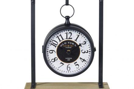 Επιτραπέζιο Ρολόι Αναλογικού τύπου σε μαύρο χρώμα