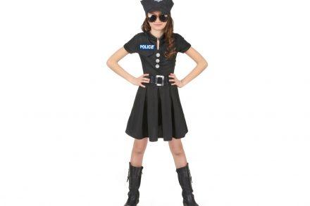 Παιδική Αποκριάτικη στολή Αστυνομικίνα με φόρεμα