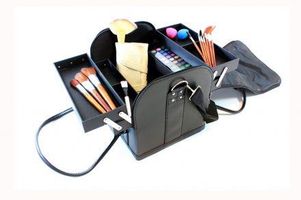 Επαγγελματικό Βαλιτσάκι Μακιγιάζ Καλλυντικών σε σχήμα τσάντας σε μαύρο χρώμα