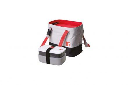 Φαγητοδοχείο Lunchbox και Τσάντα Lunchbag σε γκρι χρώμα