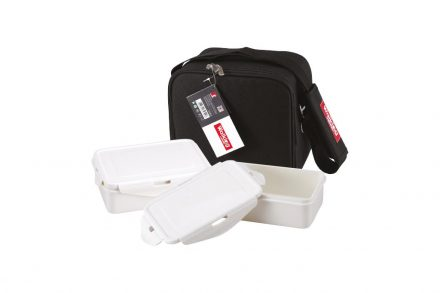Σετ Φαγητοδοχεία Lunchboxes και Τσάντα Lunchbag 5 τεμαχίων σε μαύρο χρώμα