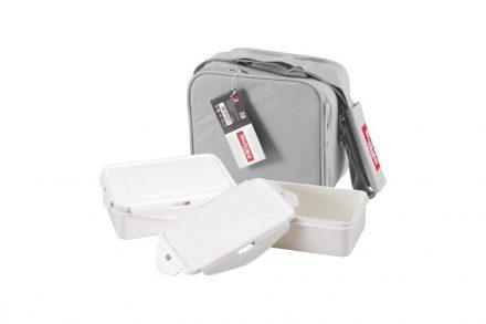 Σετ Φαγητοδοχεία Lunchboxes και Τσάντα Lunchbag 6 τεμαχίων σε γκρι χρώμα