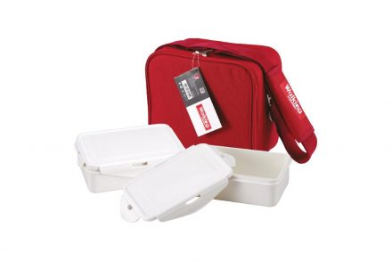 Σετ Φαγητοδοχεία Lunchboxes και Τσάντα Lunchbag 6 τεμαχίων σε κόκκινο χρώμα